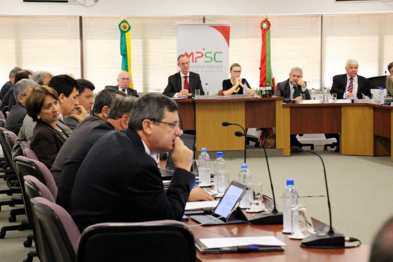 Reunião do Colégio de Procuradores de Justiça no dia 25 de fevereiro de 2015