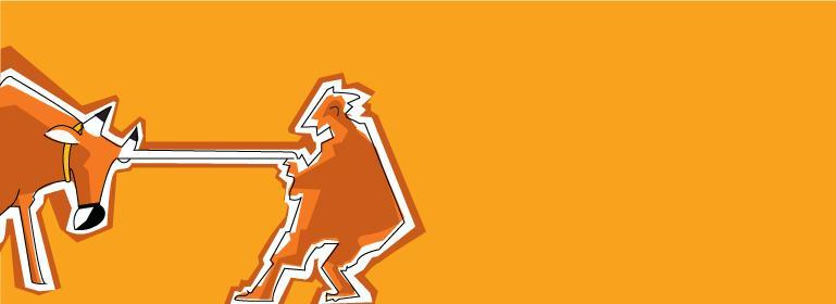 desenho de uma pessoa puxando um boi à força