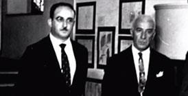 Osni de Medeiros Régis e o professor Paulo Lages Teatro, no Teatro Álvaro de Carvalho em 1962
